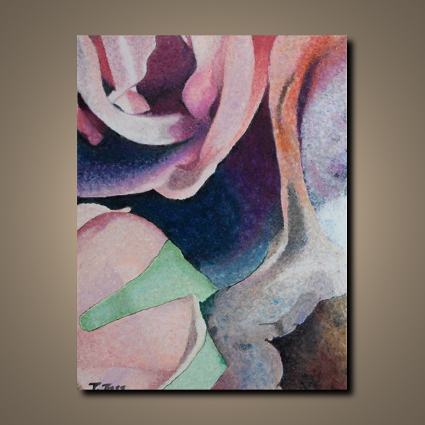 """original abstract oil painting """"Discarded Beauty"""" by Paula Boss"""