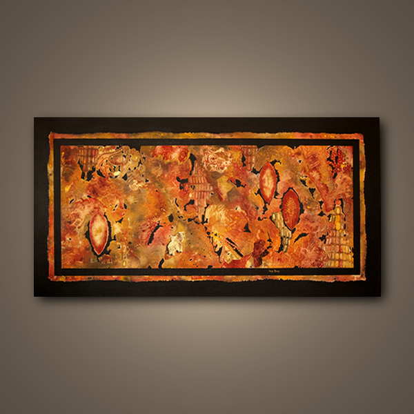 """original non-objective acrylic painting """"The Lace Chronicles #18"""" by Paula Boss"""