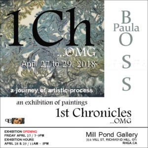 1st Chronicles Art Show Invitation